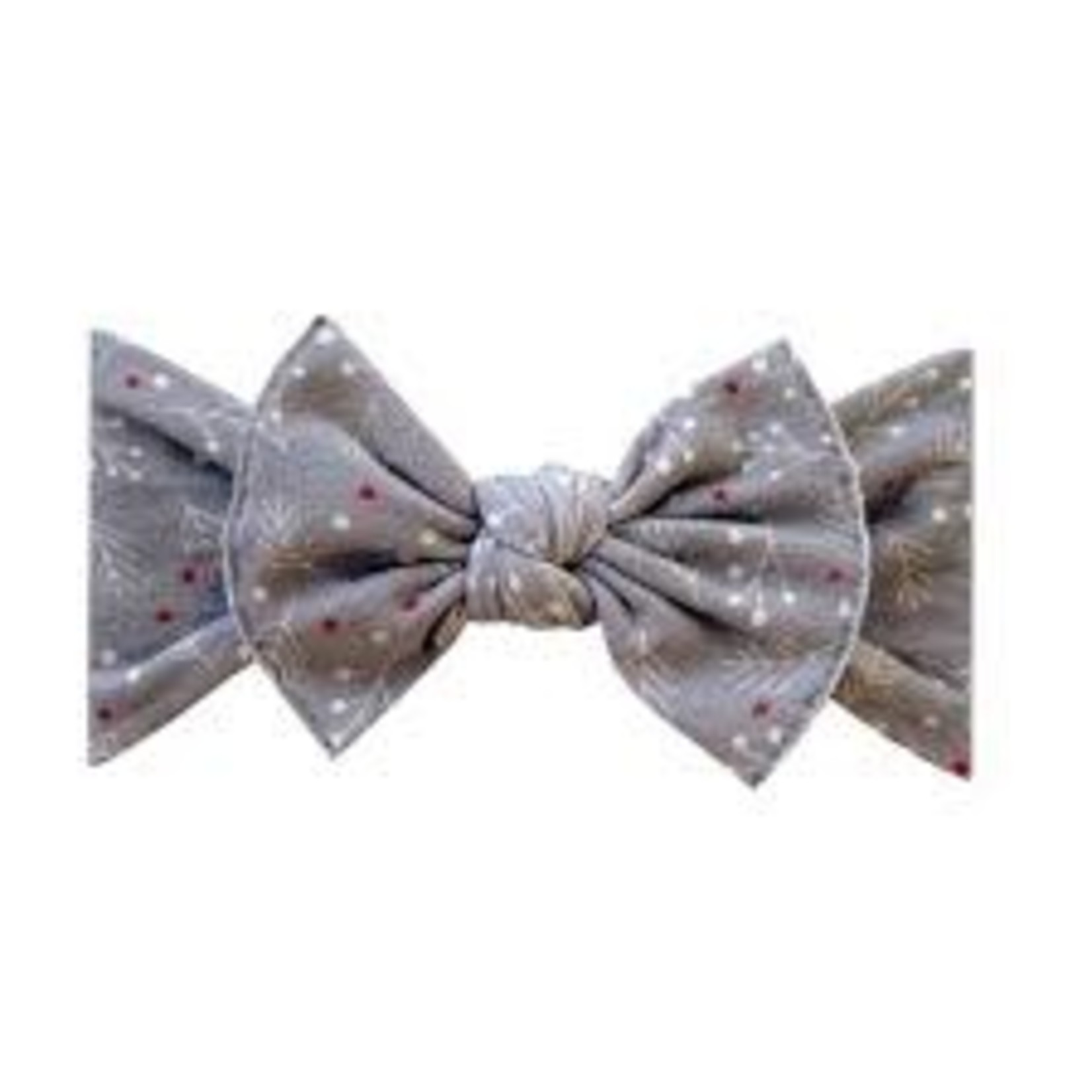 Baby Bling Bows Printed Knot - Berries