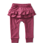 Tea Collection Ruffle Bottom Baby Pants - Cassis