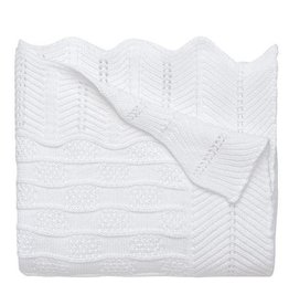Elegant Baby Fancy Blanket - White