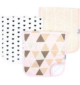 Copper Pearl Burp Cloths (3 pack) - Blush