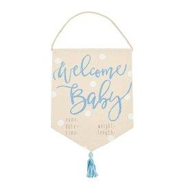 Mud Pie Welcome Baby Boy Banner