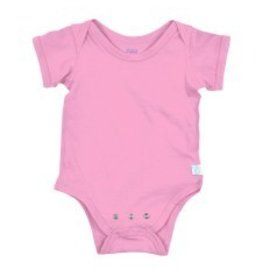 Short Sleeve Adjustable Bodysuit Light Pink 12M