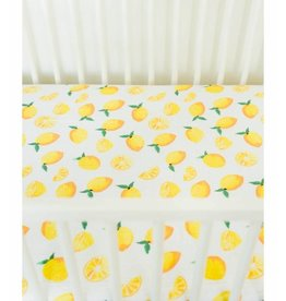 Little Unicorn Cotton Muslin Crib Sheet - Lemons
