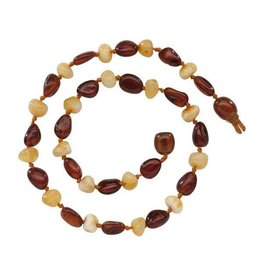 Cherished Moments Baltic Amber Baroque Beads - Dark Cherry /Milk Small