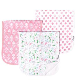 Copper Pearl Burp Cloths (3 pack) - Claire