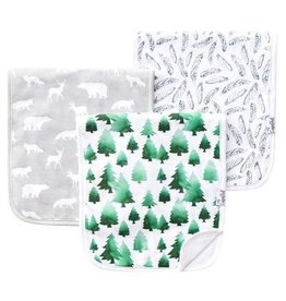 Copper Pearl Burp Cloths (3 pack) - Woodland