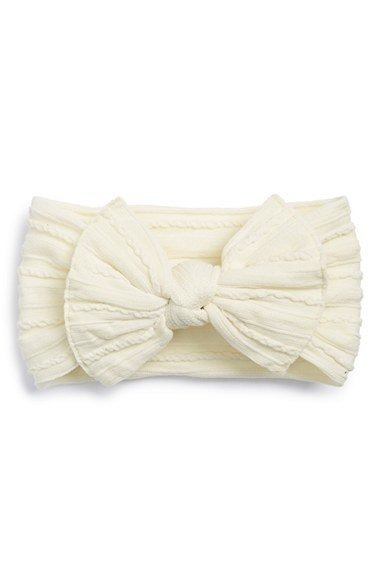 Baby Bling Bows Cable Knit Knot - Ivory - Kicks and Giggles 2e4c5cc7845