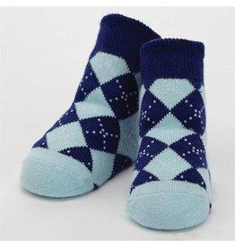 Mud Pie Blue Argyle Socks