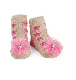 Mud Pie Glitter Star Sock