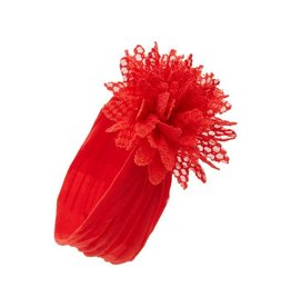 Baby Bling Bows Fishnet Flower (Cherry)
