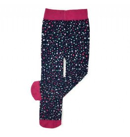 Baby Bling Bows Printed Tights (Blue Ditsy Floral)
