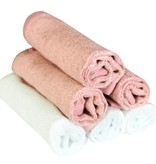 Copper Pearl Wash Cloths 6 pack - Darling Pink and White