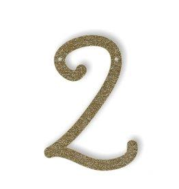 Meri Meri Gold Glitter 2 Acrylic Bunting