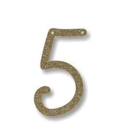 Meri Meri Gold Glitter 5 Acrylic Bunting