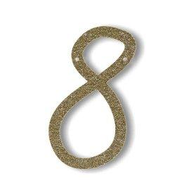 Meri Meri Gold Glitter 8 Acrylic Bunting