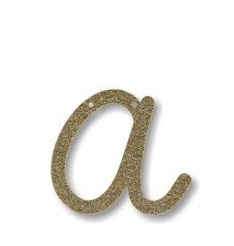 Meri Meri Gold Glitter A Acrylic Bunting