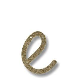 Meri Meri Gold Glitter E Acrylic Bunting