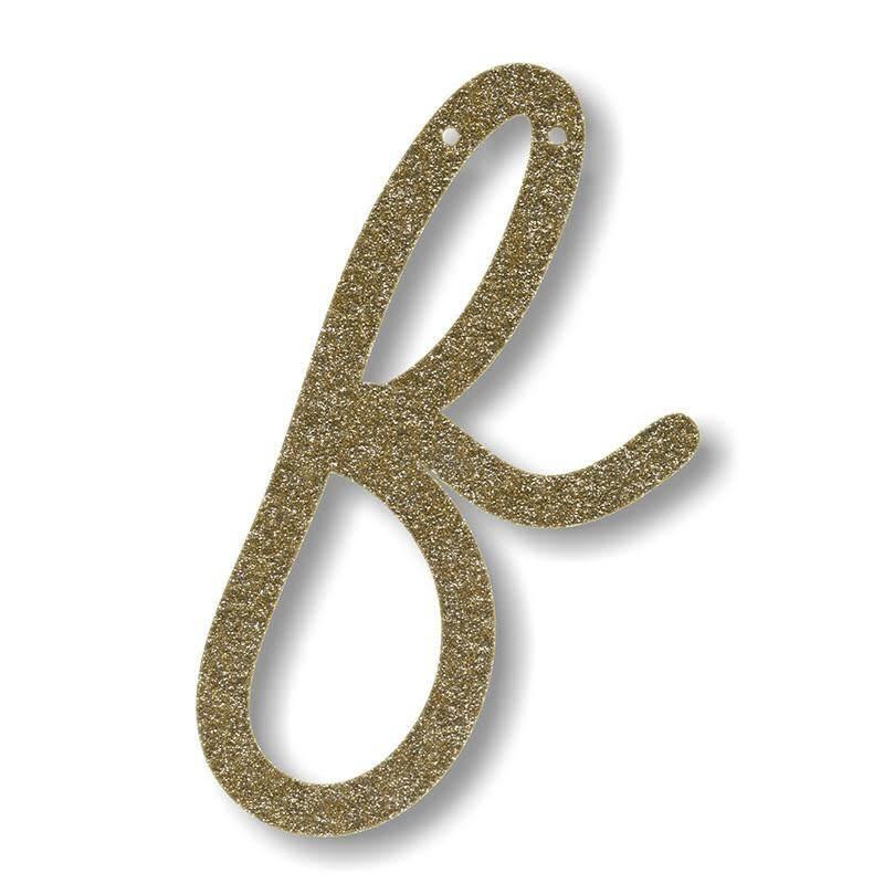 Meri Meri Gold Glitter F Acrylic Bunting