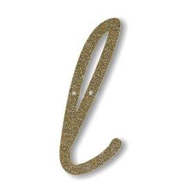 Meri Meri Gold Glitter L Acrylic Bunting