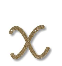 Meri Meri Gold Glitter X Acrylic Bunting