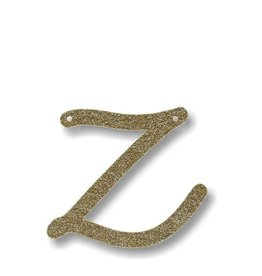 Meri Meri Gold Glitter Z Acrylic Bunting