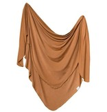 Copper Pearl Knit Blanket - Camel