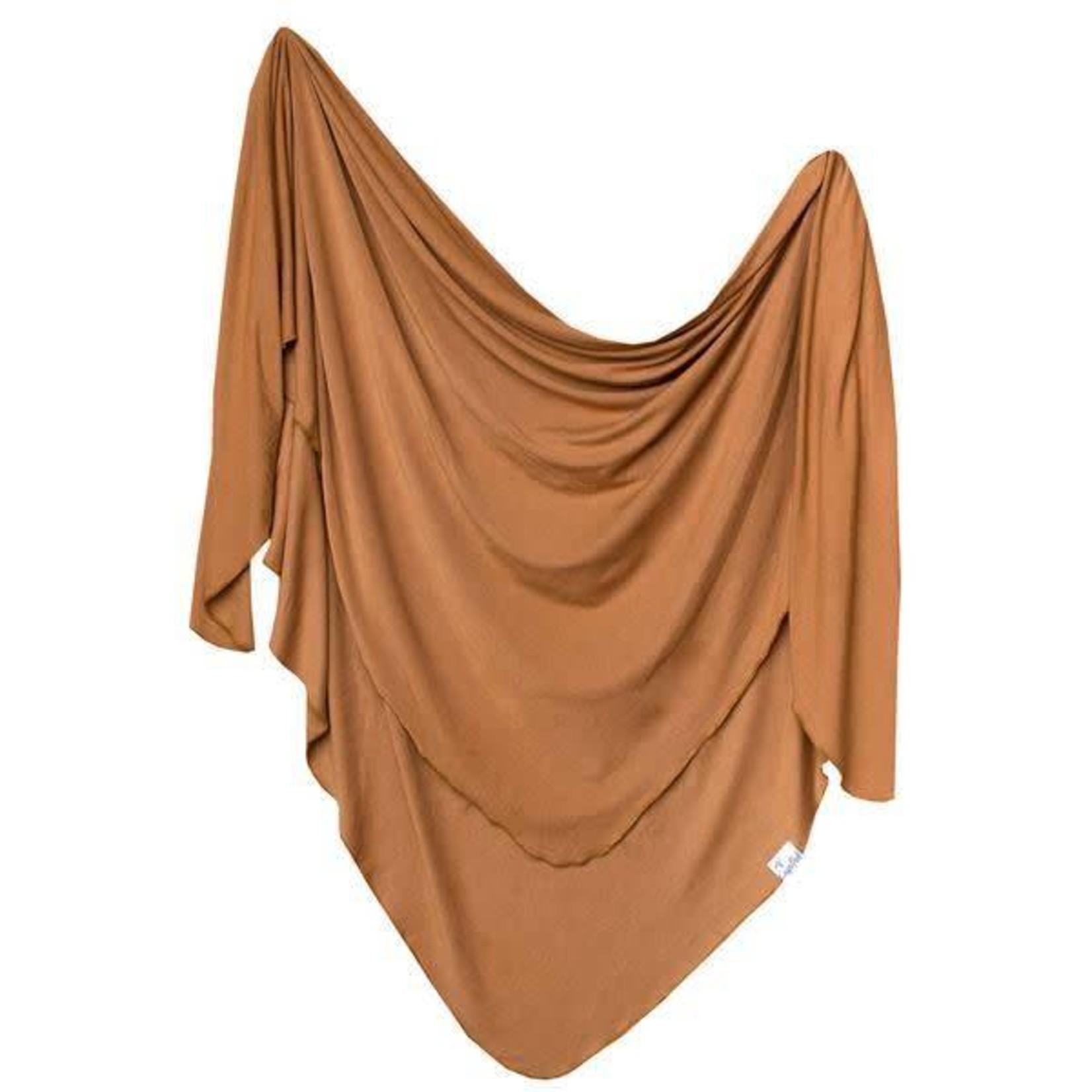 Copper Pearl Knit Blanket - Camel