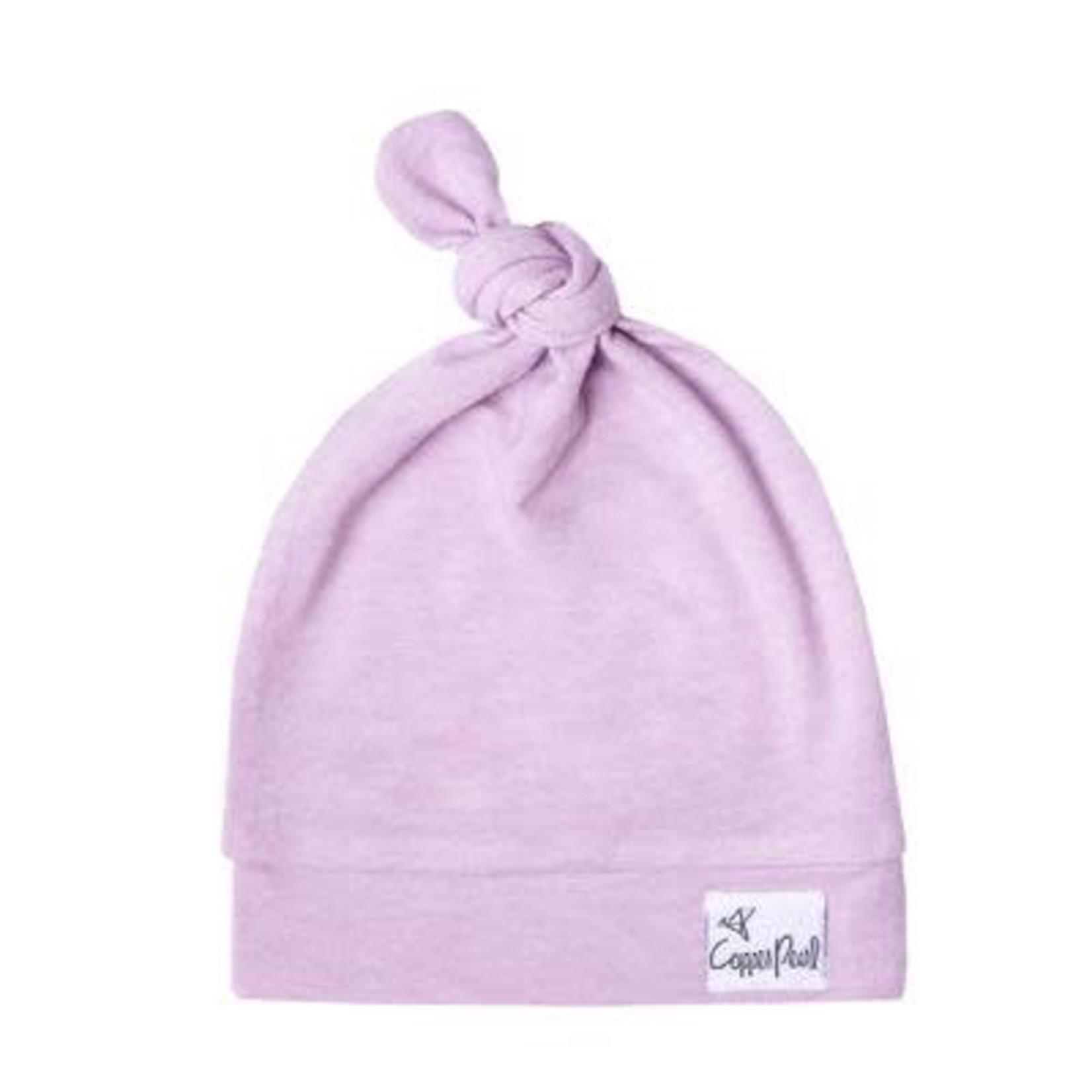 Copper Pearl Newborn Top Knot Hat, Lily x