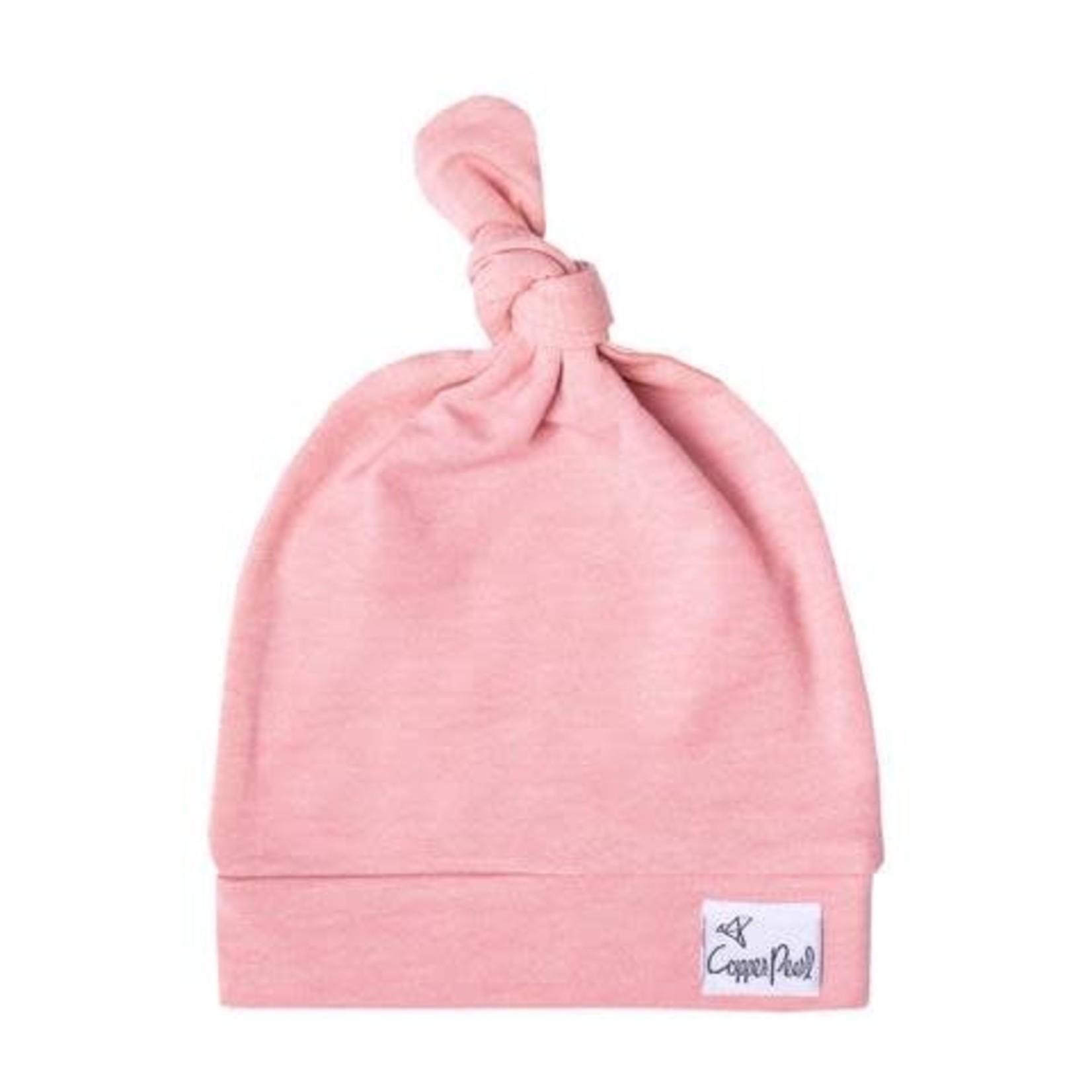 Copper Pearl Newborn Top Knot Hat, Darling