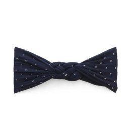 Baby Bling Bows Sailor Knot Dot - Navy Dot