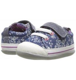 See Kai Run Stevie II (First Walker Shoe) Blue Flowers