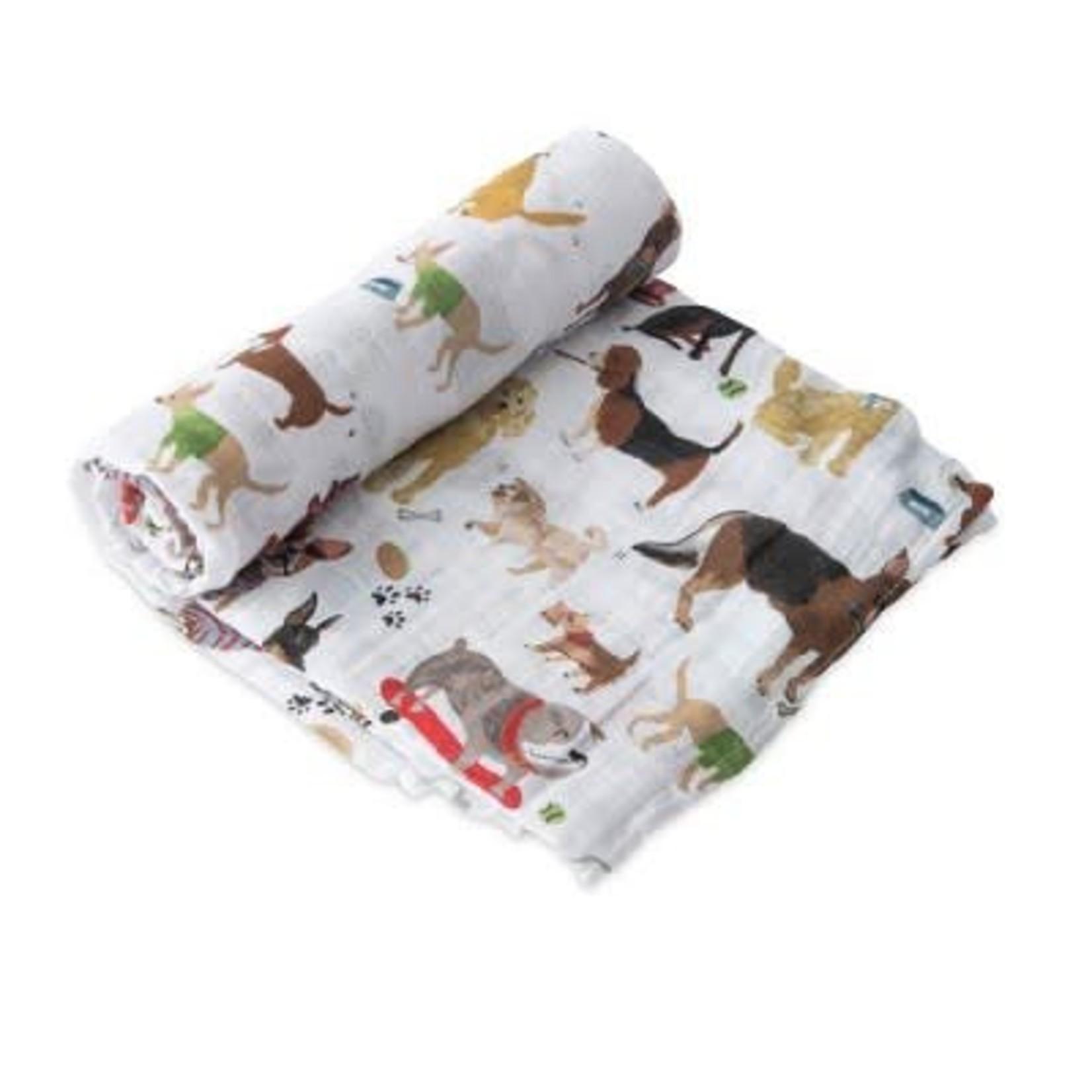 Little Unicorn Cotton Swaddle - Woof