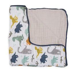 Little Unicorn Cotton Muslin Quilt Big Kid - Dino Friends