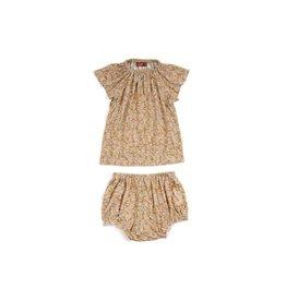 Milkbarn Kids Bamboo Dress & Bloomer Set - Rose Floral