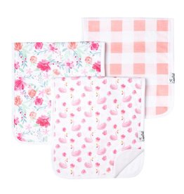 Copper Pearl Burp Cloths (3 pack) - June