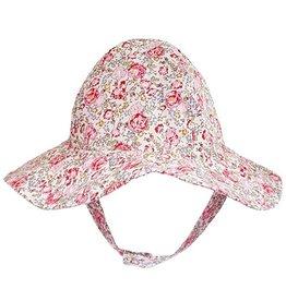 9582525b345 Huggalugs Red   Pink Flowers UPF 50+ Sunhat