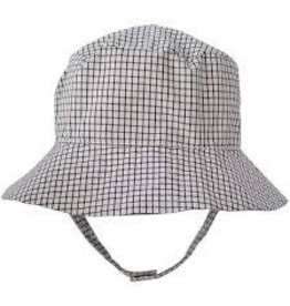 Huggalugs Boxter Black & Cream Plaid UPF 25+ Bucket Hat