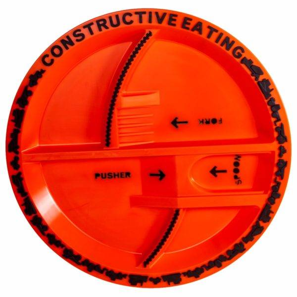 Constructive Eating Construction Plate