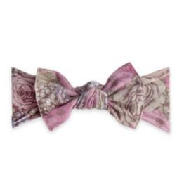 Baby Bling Bows Printed Knot - Lavendar Field