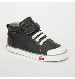 See Kai Run Peyton Black Leather Shoe High Top