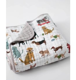 Little Unicorn Cotton Muslin Baby Quilt - Woof