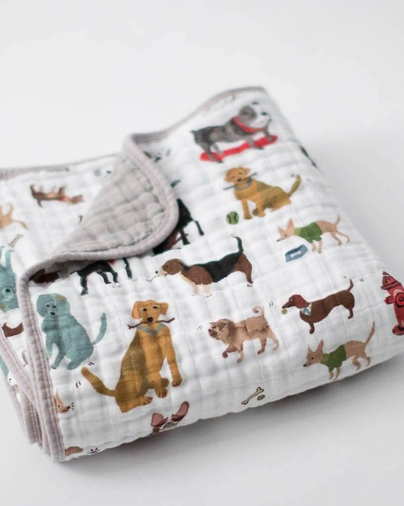 Little Unicorn Cotton Muslin Baby Quilt - Woof