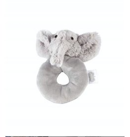 Mud Pie Elephant Plush Ring Rattle