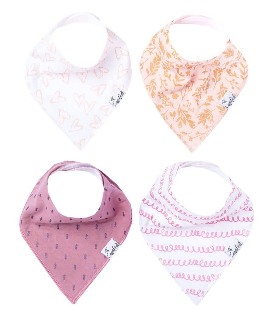 Copper Pearl Bibs - Lola Set - 4 pack