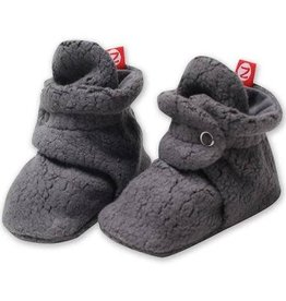 Zutano Cozie Fleece Bootie - Dark Gray