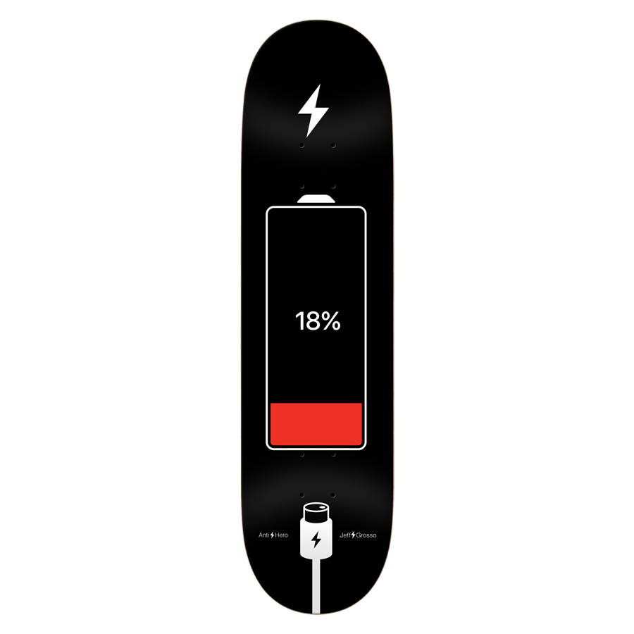 Anti-Hero Jeff Grosso 8-6/8 inch wide - Battery Life