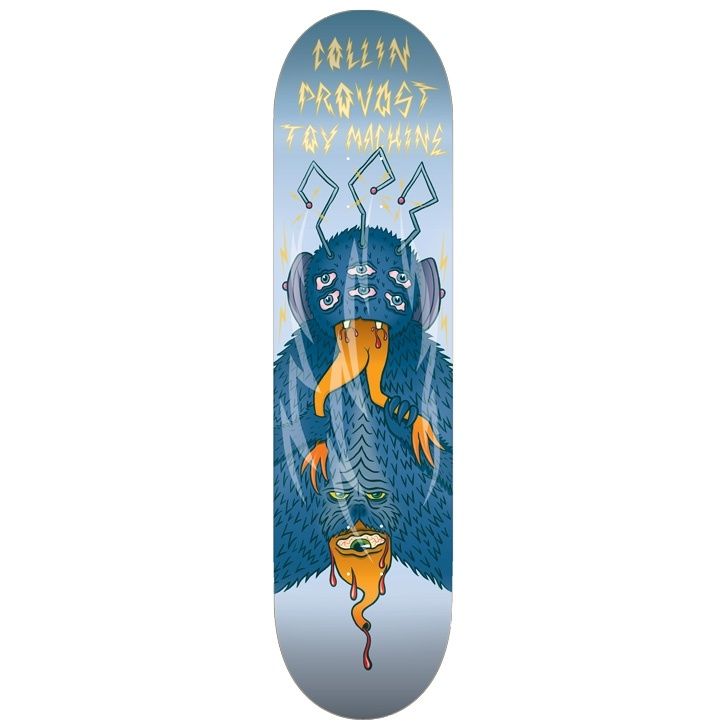 Toy Machine Collin Provost 8-3/8 inch wide - Cannibal Sect