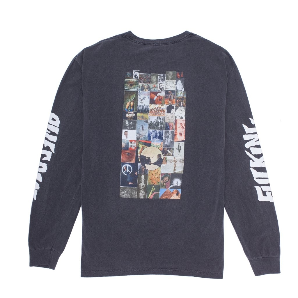 Fucking Awesome Collage L/S Tee - Pigment-Dyed Pepper