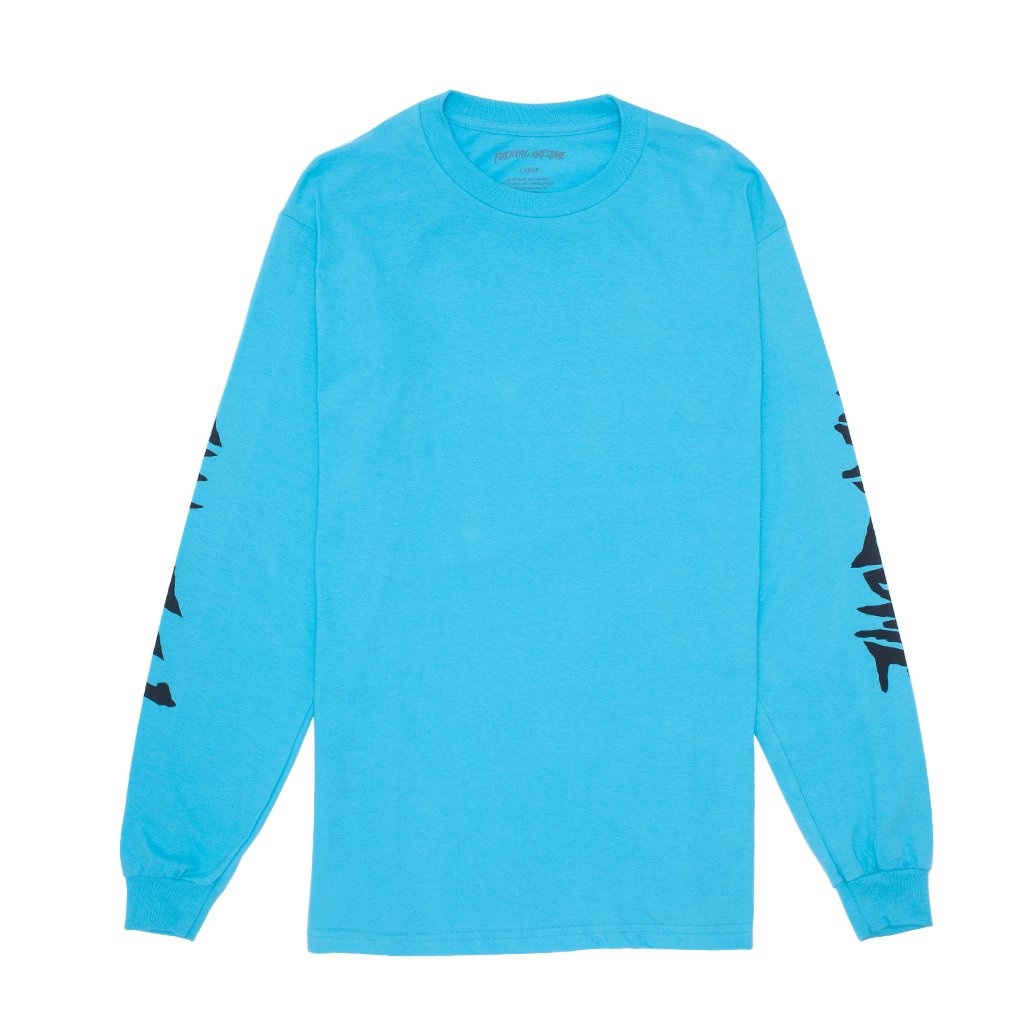 Fucking Awesome Collage L/S Tee - Lagoon Blue