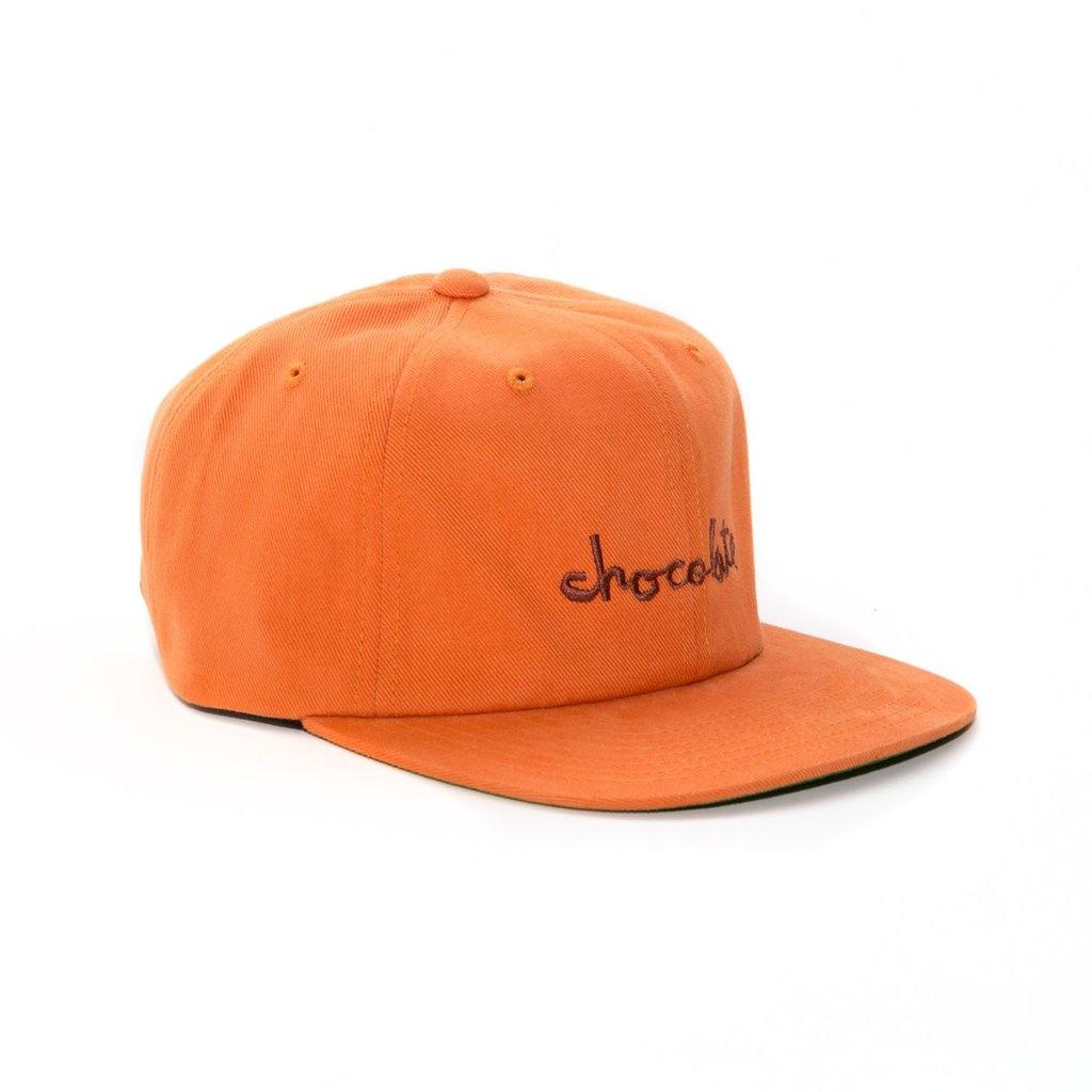Chocolate 6 Panel Chuck Strapback - Texas Orange